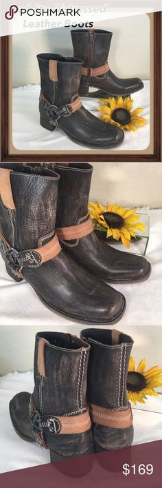 Spotted while shopping on Poshmark: Bed Stu🌟BRAND New Cool Leather Harness Boots! #poshmark #fashion #shopping #style #Bed Stu #Shoes