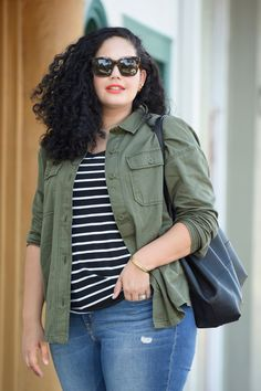 How to mix prints with Old Navy, by Tanesha Awasthi of Girl With Curves @oldnavy #prints
