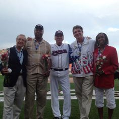 Olympians at the ballpark