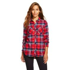 Women's Plaid Flannel Favorite Shirt - Merona™ - Ripe Red