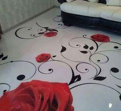 Epoxy floor Make A Platform Bed - More Space In Your Bedroom. Bedrooms form the core of the house. Epoxy 3d, Epoxy Resin Flooring, Flooring Tiles, Epoxy Floor Designs, 3d Floor Painting, Painting Concrete, Floor Murals, Floor Art, Floor Wallpaper
