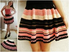 Crochet Skater Skirt Pattern. Tutorial on making measurements for all shapes and sizes. Make your own crochet skirt. Beginner friendly tutorial and patern.