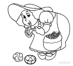 Gramma Nutt From Candyland Free Printable Coloring Pages