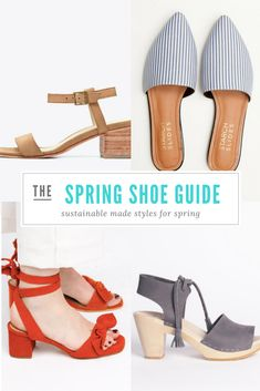 Shop ethical fashion brands and find stylish and affordable sustainably made shoes for spring! Ethical Shoes, Ethical Fashion Brands, Fair Trade Fashion, Fashion Capsule, Eco Friendly Fashion, Friends Fashion, Spring Shoes, Fashion Quotes, Slow Fashion