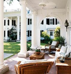fantastic porch from which a loving mother watches her boys have fun