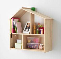 IKEA Children's bookcase wood wall shelf Doll House flisat