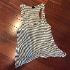 Black and white striped tank top Black and white striped tank top. Barely worn Forever 21 Tops Tank Tops