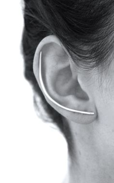 Lumo | Silver XL Ear Bar - Don't be tricked when buying fine jewelry! Follow the vital rules at http://jewelrytipsnow.com/a-simple-guide-to-purchasing-fine-jewelry/
