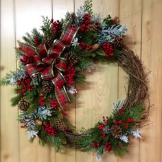 Rustic Christmas Wreaths | Rustic Christmas wreath | Our Christmas