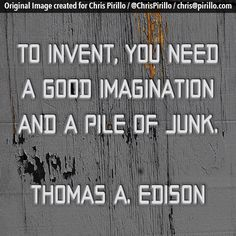 What are you going to do with your pile of junk?     Today's thought-provoking quote brought to you by the people with superb imagination over at http://lockergnome.com