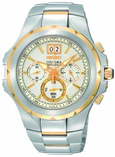 Seiko Mens SPC062 Coutura White Dial Watch -- See this great product.