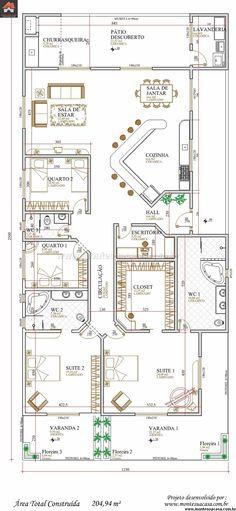 Casa 2 Quartos - 204.94m²                                                                                                                                                                                 Mais