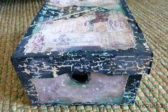 Interesante reciclaje de una caja por @Nikosinas, aplicando distintas texturas.