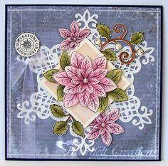 Heidi Erickson for Heartfelt Creations; Poinsettia; Seasons of Joy; Sept 2013