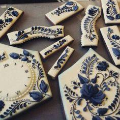 Blue Floral Cookies