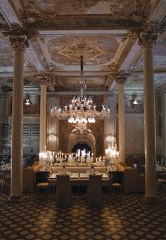 Swanky Avenue Baccarat Hotel and Residences For sale. That's some real boss stuff! Crystal Room, Marble Columns, Interior And Exterior, Interior Design, Commercial Design, Luxury Living, Architecture Details, Decoration, House