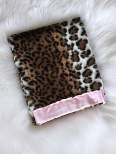 Items Similar To Leopard Print Fur Silky Baby Blanket Faux Minky And Satin