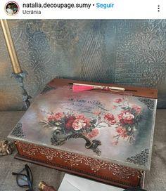 Decoupage Box, Boxes, Home Decor, Make Up, Art, Crates, Decoration Home, Room Decor, Box