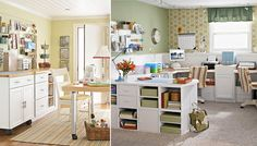 Craft Room Layout | Inspiration Design Board: Office Space Craft Room | This Lovely Home