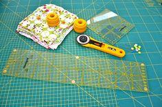 Patchworkdecke nähen Anleitung Materialien