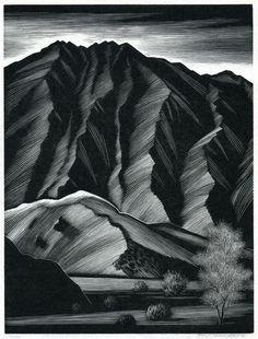 Paul Landacre ~ Smoke Tree (wood engraving)