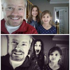 1ère photobomb Eloik version rêve et version cauchemar! (Avec mes filles!)