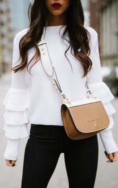 #winter #fashion / bell sleeves