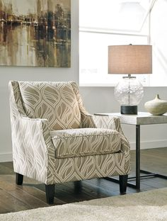 Patterened Accent Chair for Living Room: Locklee Accent Chair with Arms by Ashley Furniture at Kensington Furniture