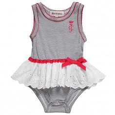 Juicy Couture Baby Girls Blue Cotton Shortie Dress at Childrensalon.com