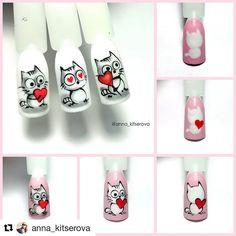 Image may contain: one or more people Punk Nails, Cat Nails, Butterfly Nail Art, Rose Nail Art, Nail Art Designs Videos, Cute Nail Designs, Mickey Nails, Matte Pink Nails, Animal Nail Art
