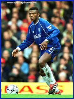 DESAILLY Chelsea Fc Chelsea, Blues, Baseball Cards, Sports, Art, Hs Sports, Art Background, Kunst, Performing Arts