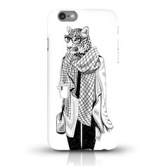 JUNIWORDS Handycase Hipster Leopardin