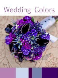 Wedding colors, purple (not a fan of the bouquet!)