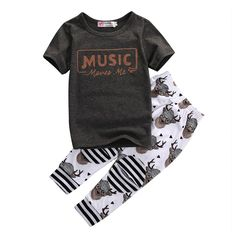 Music Moves Me Toddler Boy Outfit