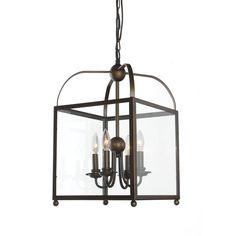 Great room Angelo Antique Copper Lantern Chandelier   Overstock.com