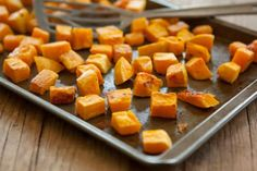 This autumn treat is a great side dish to serve with roasted pork chops or pork loin. Look for acorn squash that are firm and heavy for their size.