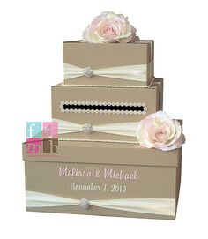 i like the names and ribbon on this card box!