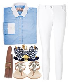 """""""Prep"""" by red-velvet-n-pearls ❤ liked on Polyvore featuring ESCADA, Ben-Amun, Antik Batik and J.Crew"""