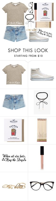 """""""When all else fails... Hug the dog"""" by xnightelsax ❤ liked on Polyvore featuring Calvin Klein, Vans, RE/DONE, Azalea, Hollister Co., Kate Spade, Witchery, GUESS and Victoria Beckham"""