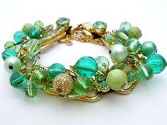 Vintage Juliana Rhinestone Bead Bracelet D by TheJewelryLadysStore, $135.00