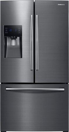 Samsung - 24.6 Cu. Ft. French Door Refrigerator - Black Stainless Steel