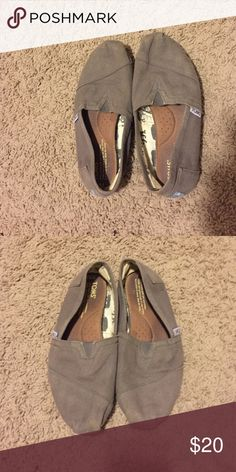 Gray TOMS (Price negotiable) Gray no holes TOMS Shoes Flats & Loafers