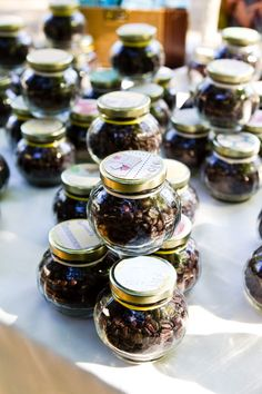 Little coffee jars. Cute! Photo by Lily Rose Photography