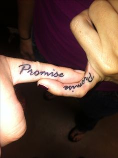 Me and my BFF's tattoos!! BFF Promise 23 years and counting!
