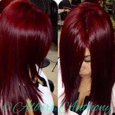 The best Deep red hair color Hair Color And Cut, Deep Red Hair Color, Deep Burgundy Hair Color, Vibrant Red Hair, Hair Colour, Color Red, Red Hair Don't Care, Beautiful Hair Color, Pinterest Hair