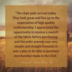 Thanks to Laura J. for the sincere testimonial on our Hayden dining chair pads #testimonialtuesdays #review  #madeinusa #midcenturymodern #homedecor  #diningroom #honey #manufacturing #interiordesign