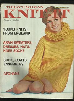 Vintage 1967 Today's Woman Knit It Magazine Young Knits from England British Invasion Fashions