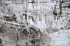 Large Abstract Drawing Original Ink on Paper by obversDeSIGN