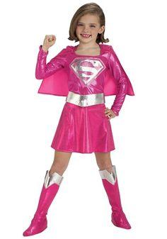 Child Pink Supergirl Costume