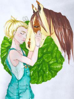 Girl& horse